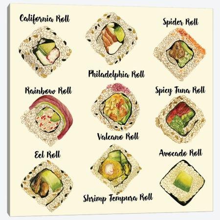 Sushi II Canvas Print #WNG95} by Melissa Wang Art Print