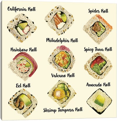 Sushi II Canvas Art Print