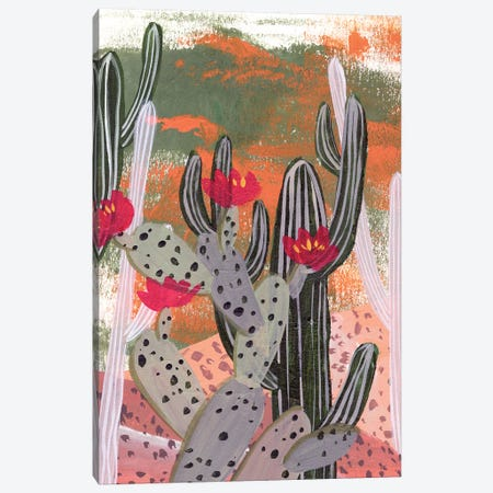 Desert Flowers II Canvas Print #WNG977} by Melissa Wang Canvas Print