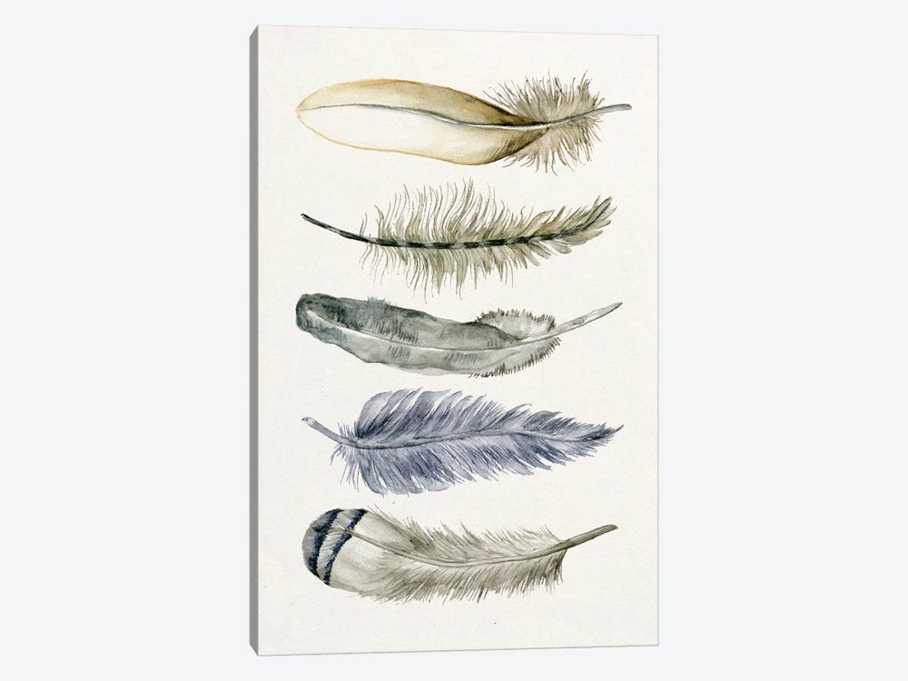 Tribal Feather II by Melissa Wang 1-piece Canvas Artwork