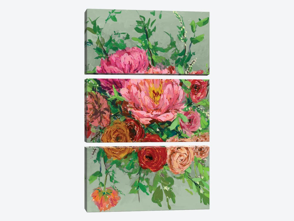 Vintage Bouquet I 3-piece Canvas Print