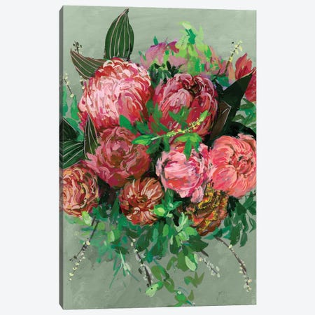 Vintage Bouquet II Canvas Print #WNG99} by Melissa Wang Canvas Wall Art