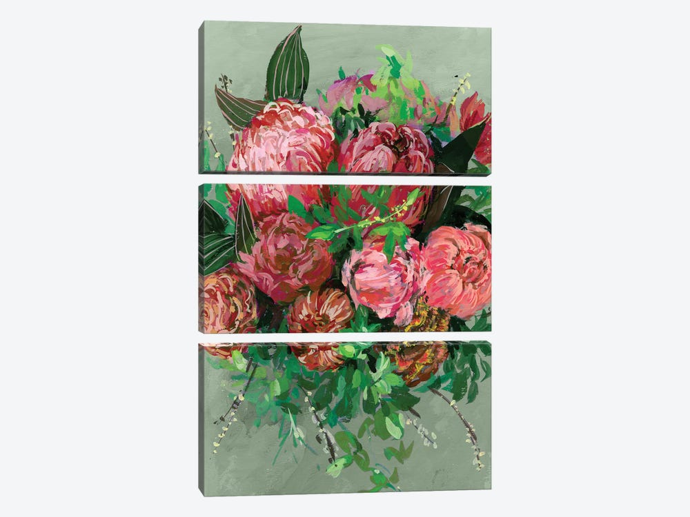 Vintage Bouquet II by Melissa Wang 3-piece Canvas Art