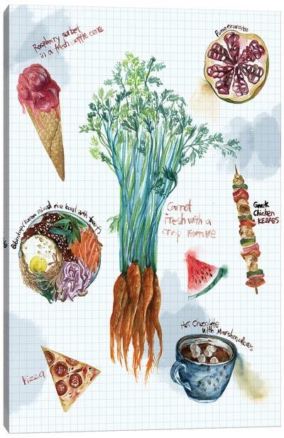 Food Sketches I Canvas Art Print