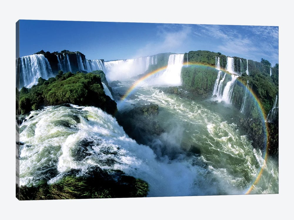 Cascades Of The Iguacu Falls, The World's Largest Waterfalls, With Rainbow, Iguacu National Park, Border Of Brazil And Argentina by Konrad Wothe 1-piece Canvas Art Print