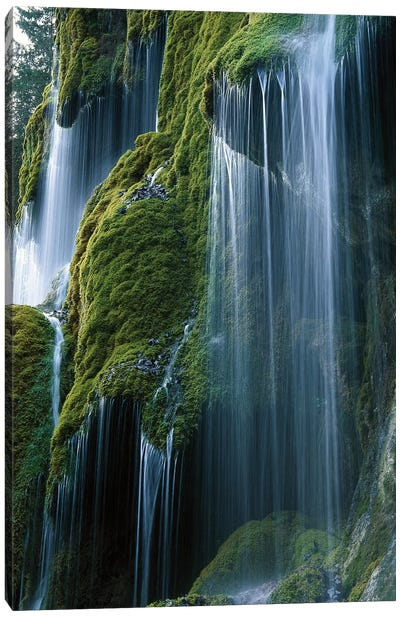 Waterfall, Bavaria, Germany Canvas Art Print