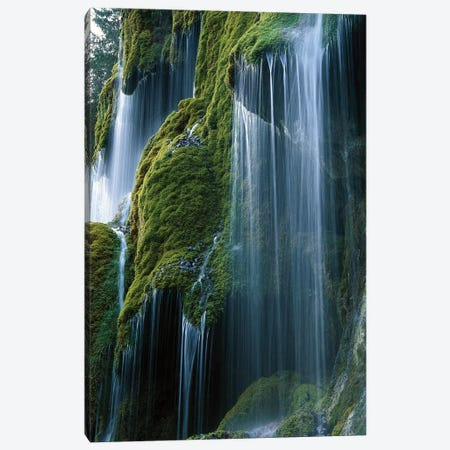Waterfall, Bavaria, Germany Canvas Print #WOT44} by Konrad Wothe Canvas Artwork