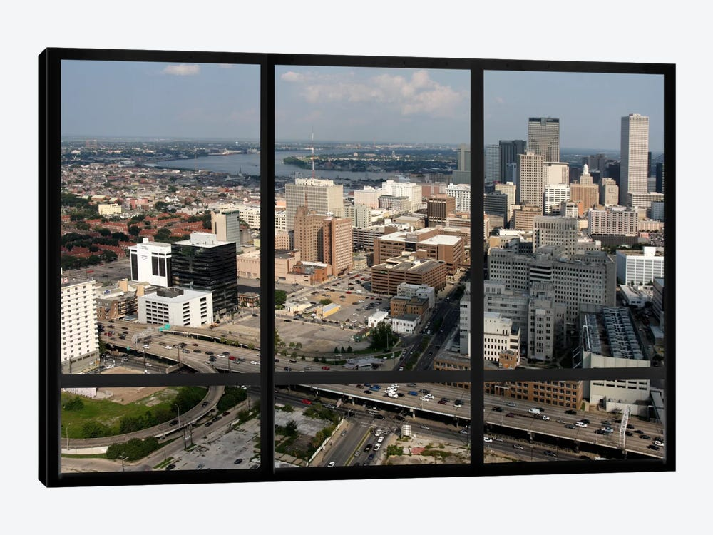 New Orleans City Skyline Window View by iCanvas 1-piece Canvas Art
