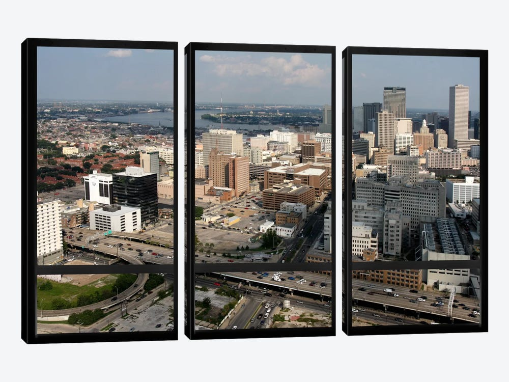 New Orleans City Skyline Window View by iCanvas 3-piece Canvas Art