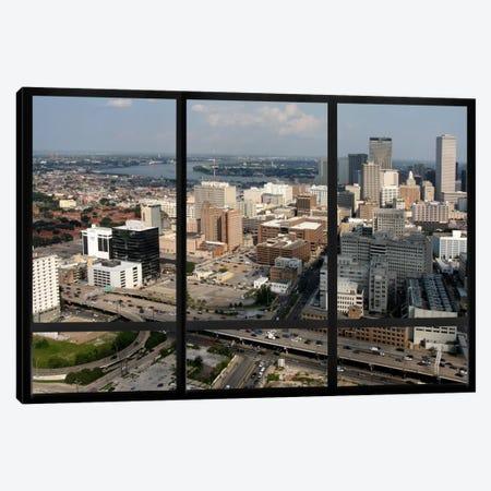 New Orleans City Skyline Window View Canvas Print #WOW23} by Unknown Artist Canvas Artwork