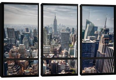 New York City Skyline Window View Canvas Art Print