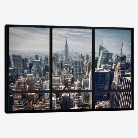 New York City Skyline Window View Canvas Print #WOW25} by Unknown Artist Art Print