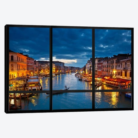 Venice City Skyline Window View Canvas Print #WOW41} by Unknown Artist Canvas Wall Art