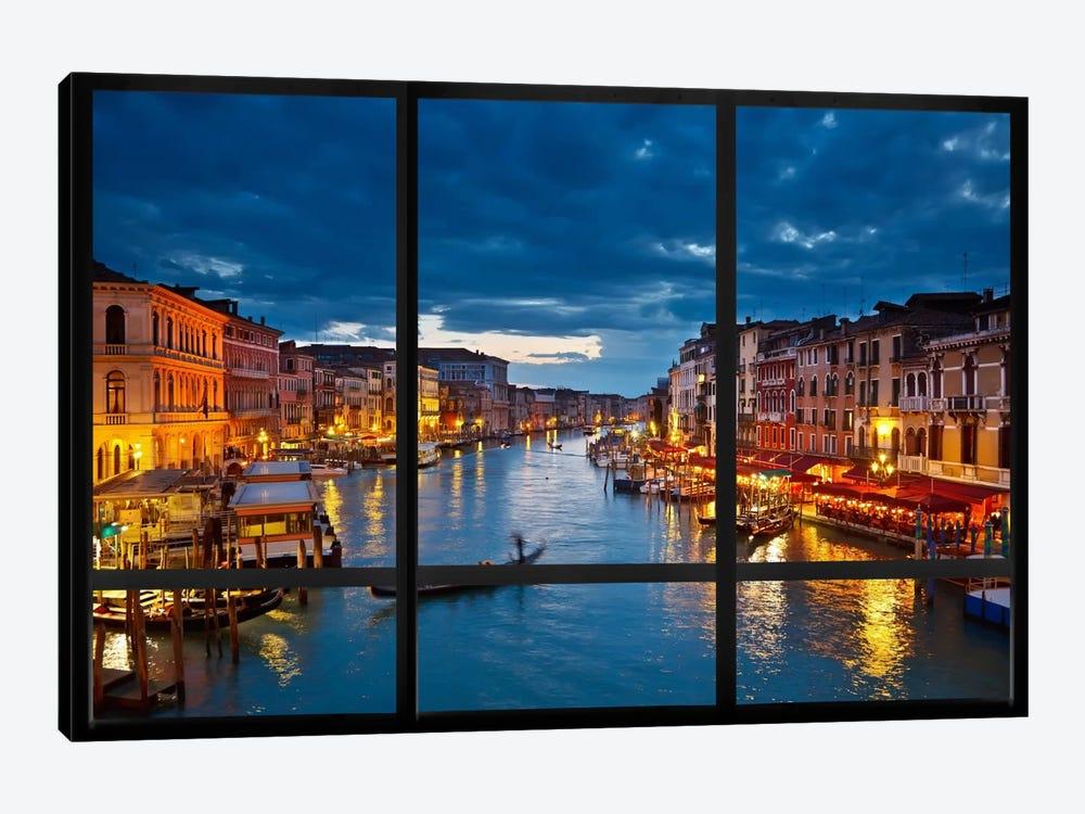 Venice City Skyline Window View by Unknown Artist 1-piece Canvas Art