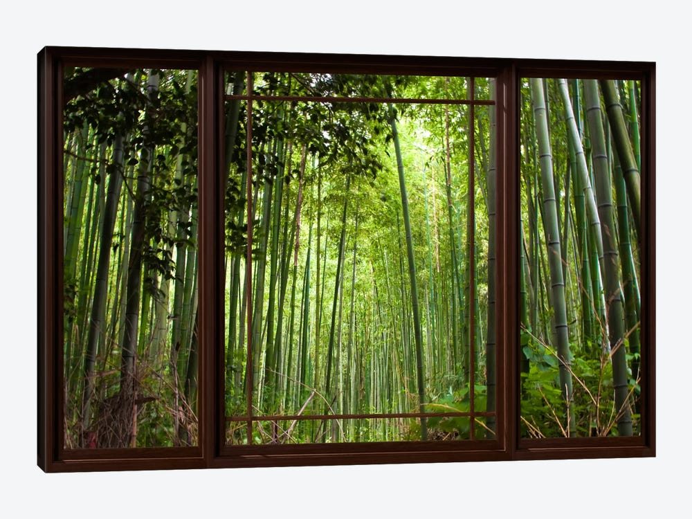 Bamboo Forest Window View by Unknown Artist 1-piece Canvas Art