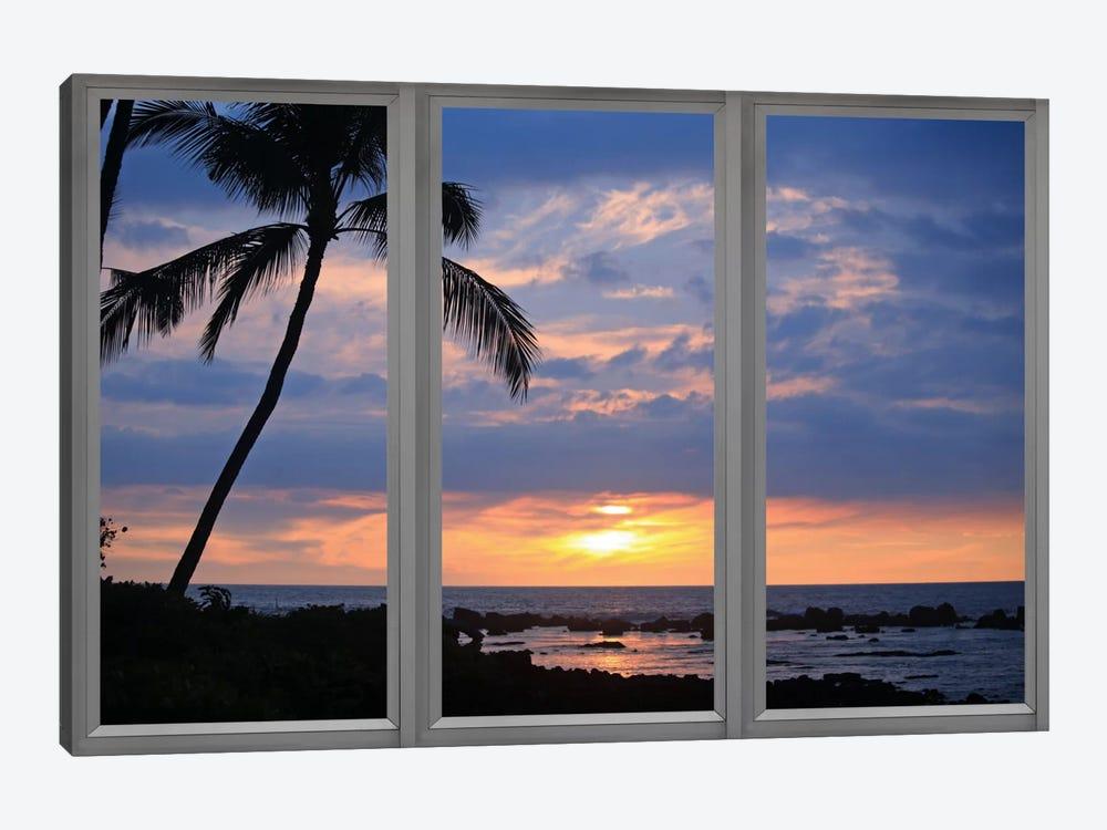 Beach Sunset Window View by Unknown Artist 1-piece Art Print