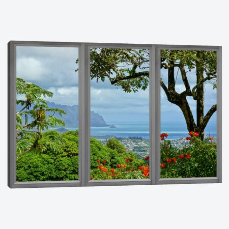 Hawaii Window View Canvas Print #WOW49} by iCanvas Canvas Art