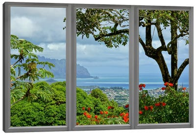 Hawaii Window View Canvas Art Print