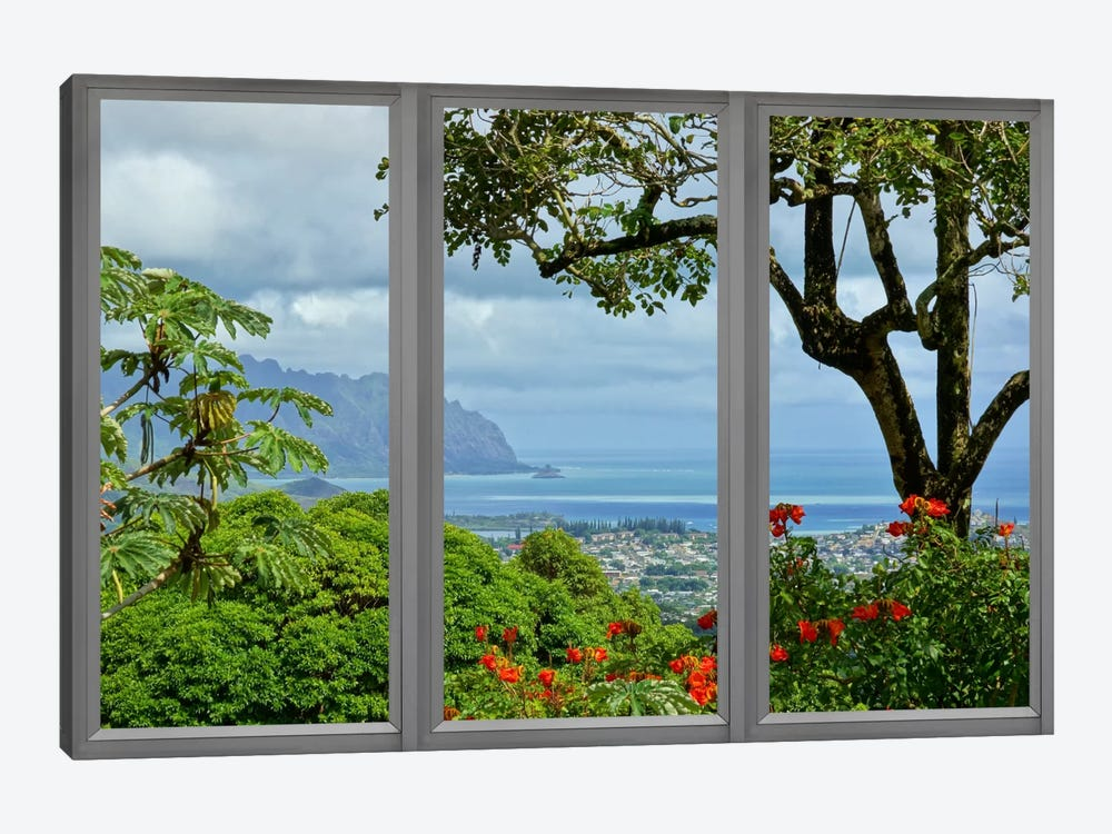 Hawaii Window View by iCanvas 1-piece Canvas Artwork