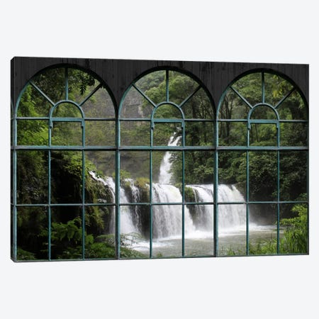 Waterfall Window View Canvas Print #WOW68} by Unknown Artist Canvas Artwork
