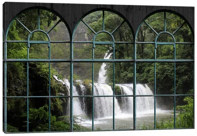 Waterfall Window View Canvas Art Print