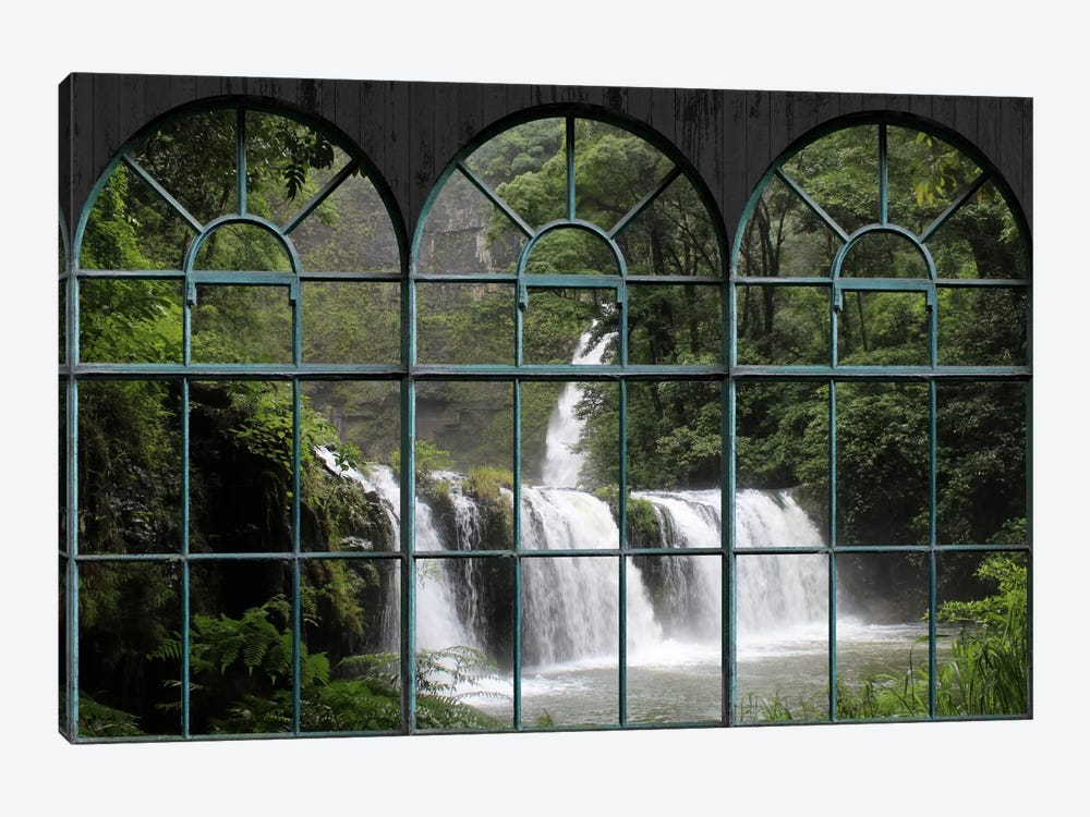 Waterfall Window View by Unknown Artist 1-piece Art Print