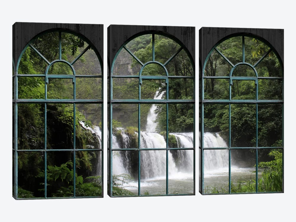 Waterfall Window View by iCanvas 3-piece Art Print