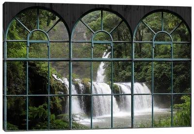 Waterfall Window View Canvas Art Print