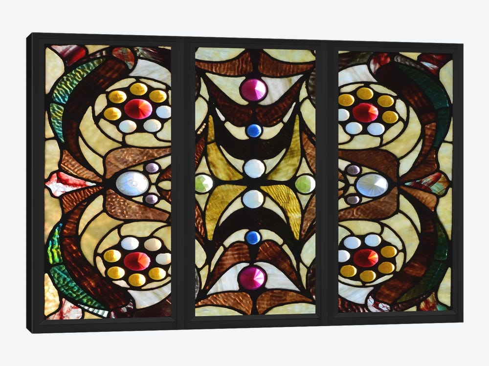 Geometric Deco Stained Glass Window by Unknown Artist 1-piece Canvas Wall Art