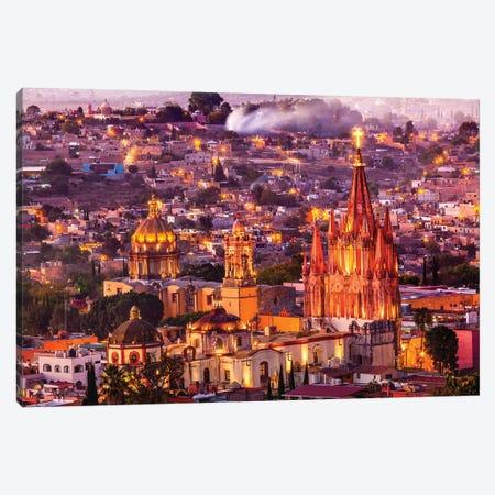 San Miguel de Allende, Mexico, Miramar, Overlook, Parroquia Archangel Church Canvas Print #WPE13} by William Perry Canvas Artwork