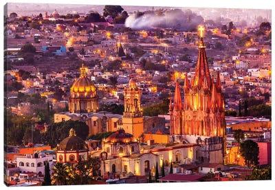 San Miguel de Allende, Mexico, Miramar, Overlook, Parroquia Archangel Church Canvas Art Print