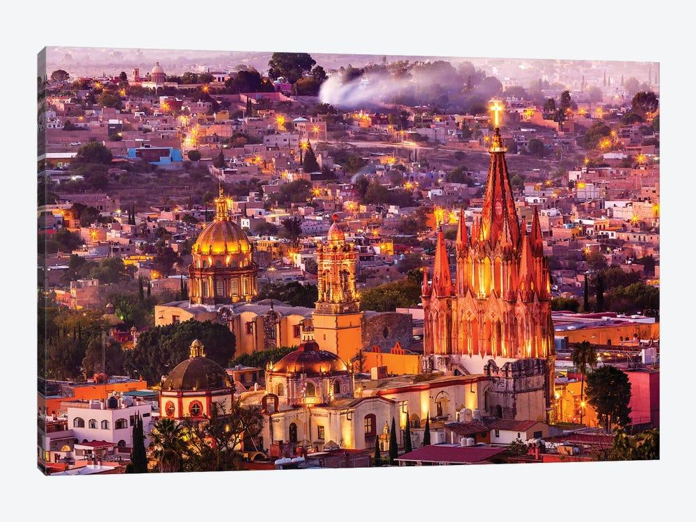 San Miguel de Allende, Mexico, Miramar, Overlook, Parroquia Archangel Church by William Perry 1-piece Canvas Art