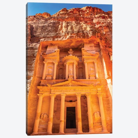 Treasury built by the Nabataens, Siq, Petra, Jordan.  Canvas Print #WPE14} by William Perry Canvas Print