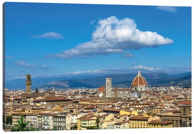 Cityscape View Of Florence, Tuscany, Italy. Canvas Art Print