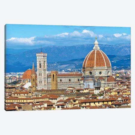 Florence Cathedral (Cathedral Di Santa Maria Del Fiore), Florence, Tuscany, Italy. Finished 1400'S Canvas Print #WPE28} by William Perry Canvas Art Print