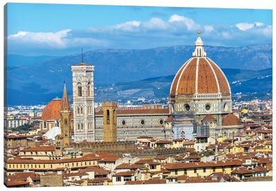 Florence Cathedral (Cathedral Di Santa Maria Del Fiore), Florence, Tuscany, Italy. Finished 1400'S Canvas Art Print