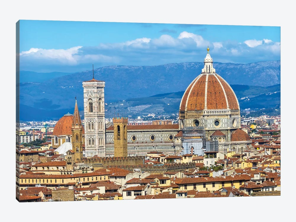 Florence Cathedral (Cathedral Di Santa Maria Del Fiore), Florence, Tuscany, Italy. Finished 1400'S by William Perry 1-piece Canvas Wall Art