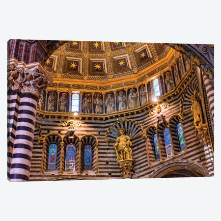 Golden Dome, Siena, Italy. Cathedral Completed From 1215 To 1263. Canvas Print #WPE29} by William Perry Canvas Print
