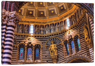 Golden Dome, Siena, Italy. Cathedral Completed From 1215 To 1263. Canvas Art Print