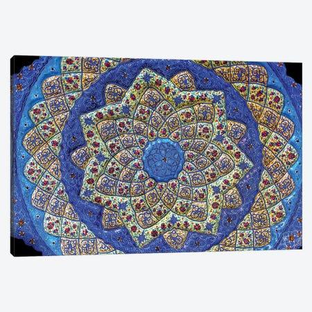 Ancient Arab Islamic Designs Blue Pottery, Madaba, Jordan I Canvas Print #WPE2} by William Perry Canvas Artwork