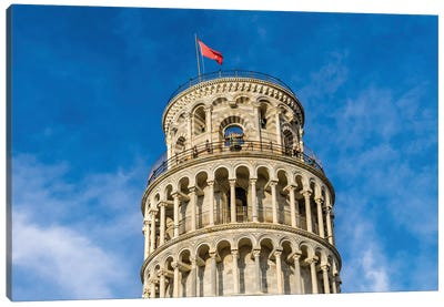 Leaning Tower Of Pisa, Tuscany, Italy. Completed In 1100'S. Canvas Art Print