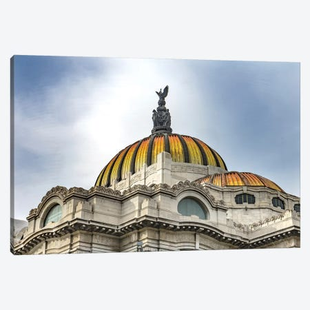 Palacio De Bellas Artes, Mexico City, Mexico. Built In 1932 As The National Theater And Art Museum. Mexican Eagle On Top. Canvas Print #WPE34} by William Perry Canvas Art Print