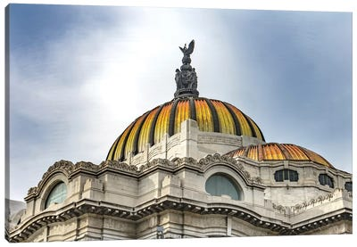 Palacio De Bellas Artes, Mexico City, Mexico. Built In 1932 As The National Theater And Art Museum. Mexican Eagle On Top. Canvas Art Print