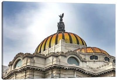 Palacio De Bellas Artes, Mexico City, Mexico. Built In 1932 As The National Theater And Art Museum. Mexican Eagle On Top. Canvas Art Print