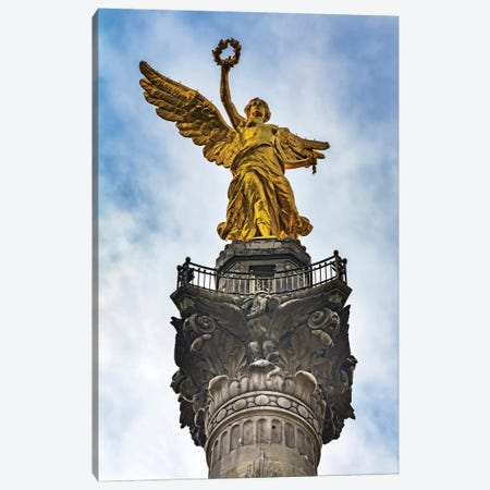 The Angel Of Independence, Mexico City, Mexico. Built In 1910 Celebrating It'S Independence Of 1821. Canvas Print #WPE35} by William Perry Canvas Art Print