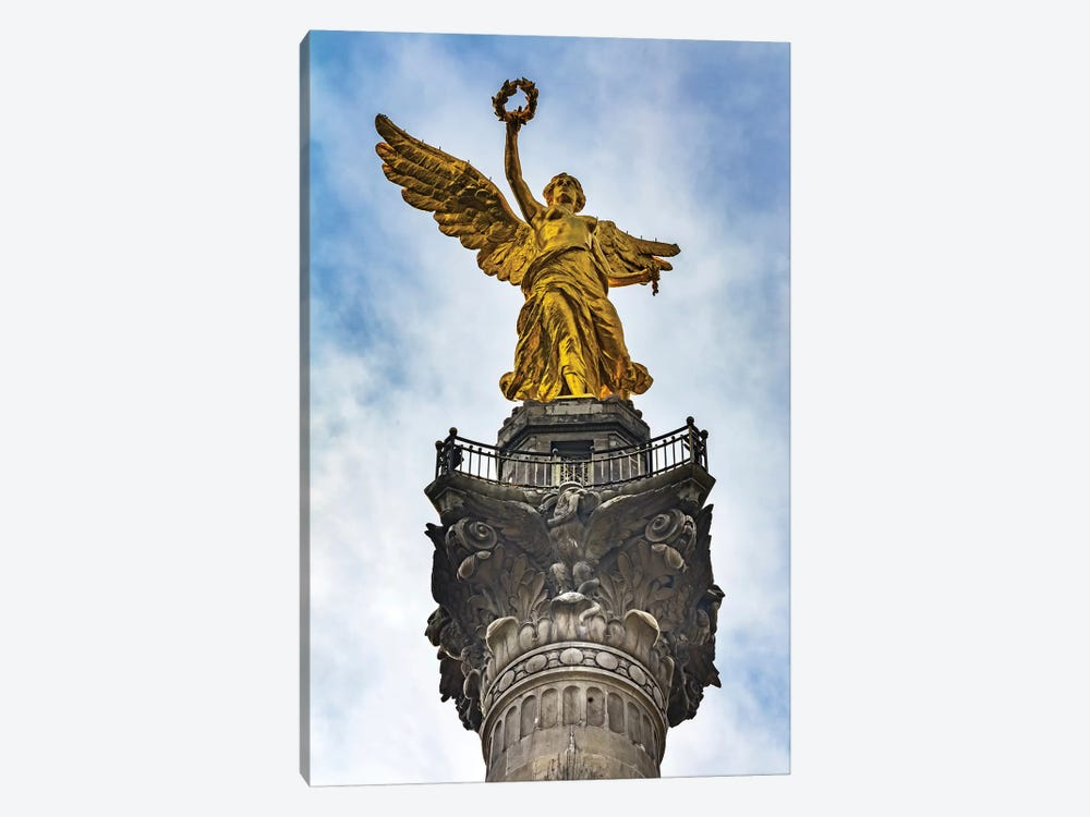 The Angel Of Independence, Mexico City, Mexico. Built In 1910 Celebrating It'S Independence Of 1821. by William Perry 1-piece Canvas Wall Art