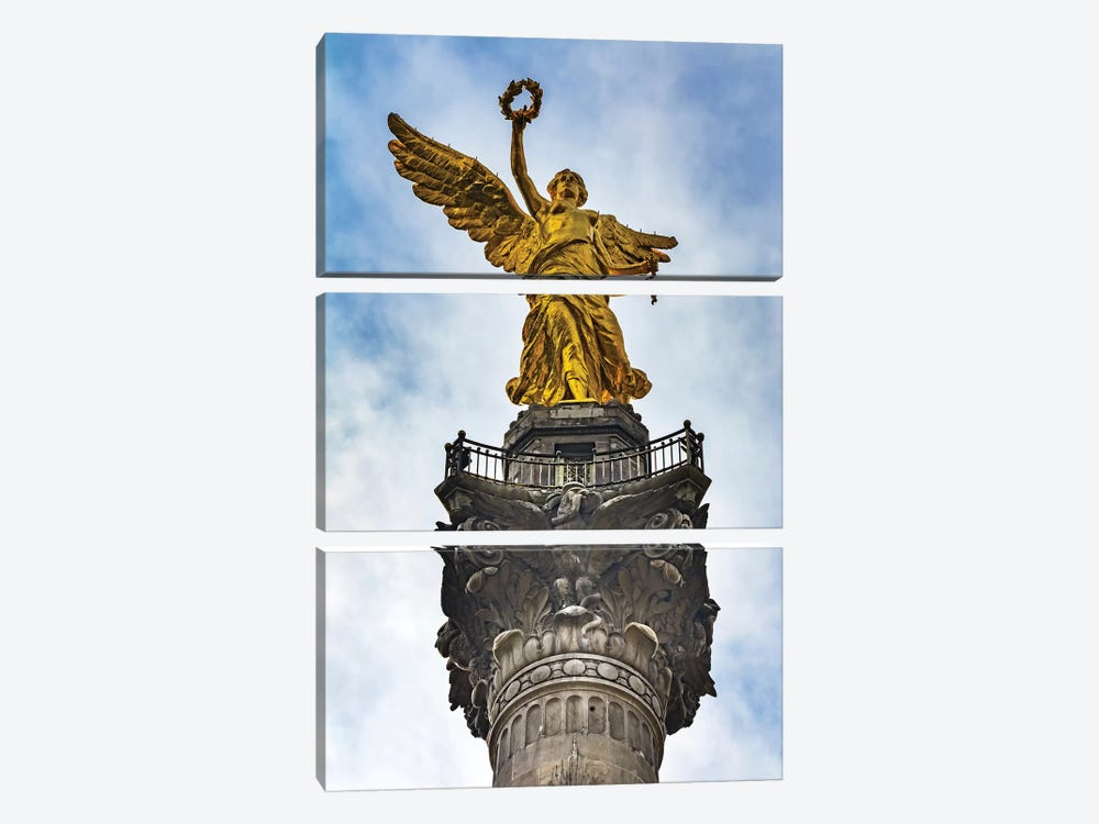 The Angel Of Independence, Mexico City, Mexico. Built In 1910 Celebrating It'S Independence Of 1821. by William Perry 3-piece Canvas Artwork