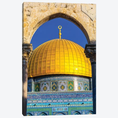 Dome of the Rock Arch, Temple Mount, Jerusalem, Israel I Canvas Print #WPE7} by William Perry Art Print