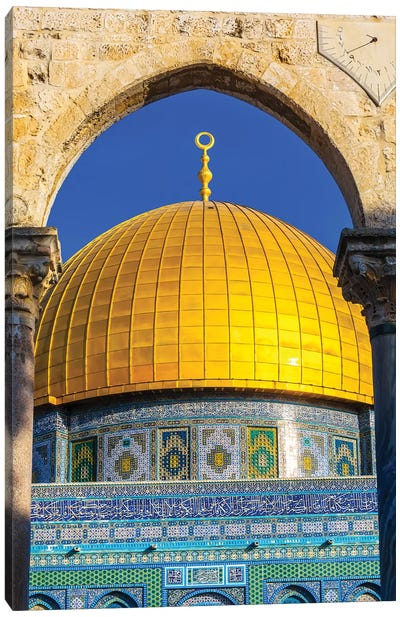 Dome of the Rock Arch, Temple Mount, Jerusalem, Israel I Canvas Art Print