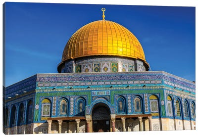 Dome of the Rock Arch, Temple Mount, Jerusalem, Israel II Canvas Art Print